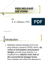 Modified Release Dosage Form