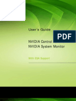 NVIDIA Control Panel and System Monitor With ESA User Guide