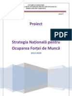 Strategia Naţională pentru Ocuparea Forţei de Muncă