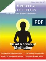 Art & Science of Meditation -  Your Spiritual Revolution - Issue 1 - June 2007