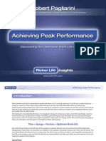 Achieving Peak Performance Richer Life Insights