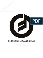 500 Series Analog Delay