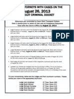 August Trail Docket for Houston County Circuit Court