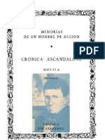 Baroja Pio - Memorias de Un Hombre de Accion 21 - Cronica Escandalosa
