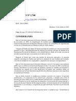 Dto 2740 base nuevo marco institucional Mza pos caso cárceles