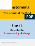 Brainstorming - the nominal method