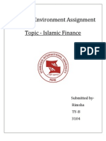 Assignment on Islamic Banking