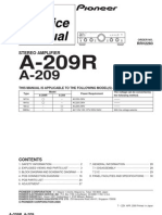Pioneer a209 a209r-Au service manual
