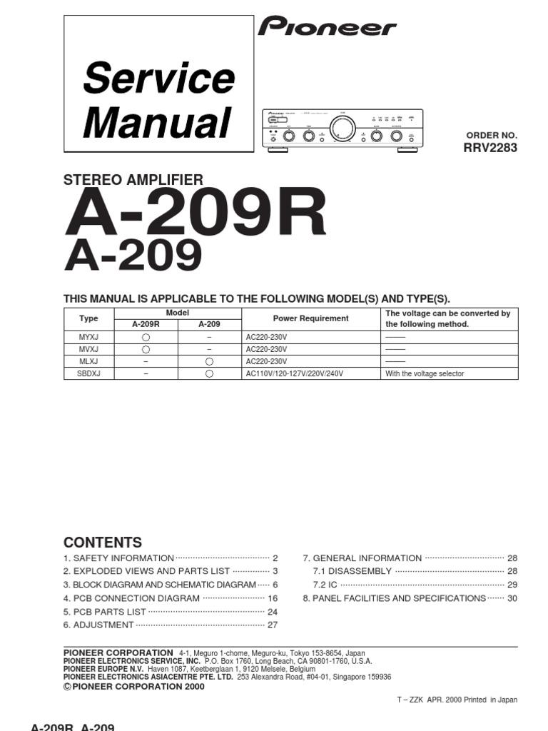 pioneer a209 a209r au service manual compact cassette loudspeaker rh es scribd com Atari Climber Manual Atari Climber Manual 2600