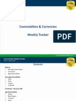 Commodities Weekly Tracker 26th Aug 2013