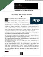 Das Vierte Buch - Die Geheiligte Rede Hermetis Trismegisti (eBook - Zeitung - German - Deutsch)