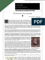 Eine Analyse Der _Fama Fraternitas_(eBook - Zeitung - German - Deutsch)