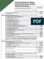 tabela de honorário agosto 2013