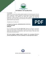 Administrative Advert 2013-2014