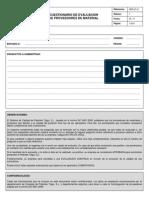 Cuestionario de evaluación