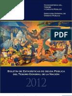 Boletín de Estadísticas de Deuda Pública