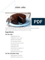 Easy Chocolate CakeR