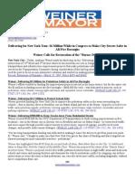 Delivering for New York Tour - Transportation Safety