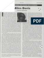 Miles Davis - Article in The Nation 2003