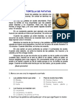 La Tortilla de Papas, Texto Instructivo
