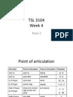 TSL 3104 Week 4 Note 2
