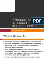 Introduction to Research Methodologies