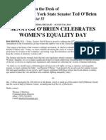 Senator O'Brien Celebrates Women's Equality Day