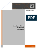 Emerging and Novel Photovoltaic Technologies