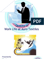 quality of worklife at vardhman group of industries
