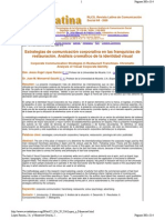 Estrategias de comunicación corporativa en las franquicias de RESTAURANTES