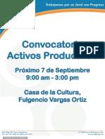 Convocatoria Activos Productivos