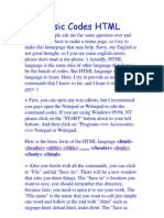 Basic Codes HTML