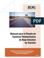 Manual Para Diseno de Caminos Pavimentados de Bajo Volumen de Transito