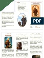Triptico Francisco de Asis