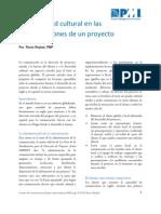 La Diversidad Cultural en Las Comunicaciones de Proyectos