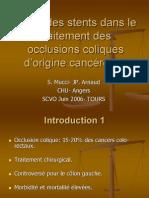 Place Des Stents Dans Le Ttt Des Occlusions Coliques Origine Kc 2006