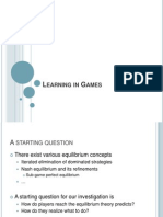 9. Learning in Games