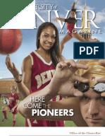 University of Denver Magazine Fall 2013