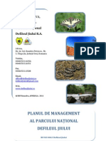 Plan de Management Parc Defileul Jiului