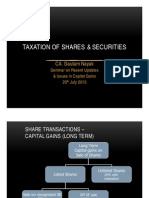 Taxation of Shares Securities
