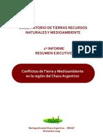 REDAF Conflictos Sobre La Tenencia de La Tierra y Ambientales en Chaco Arg