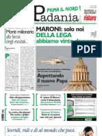 La Padania 01/03/2013