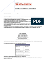 Cronograma de Estudos Para o XII Exame Da OAB