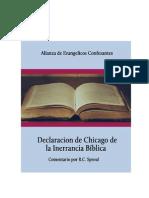Declaracion Chicago Sobre La Inerrancia Biblica-Comentario RC Sproul