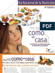 dossier editado por la Federación Española de Sociedades de Nutrición, Alimentación y Dietética con motivo de este día Nutricion 2009
