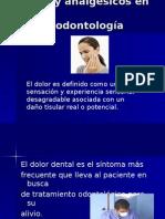 Dolor y analgésicos en odontología