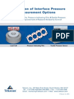 Comparison Pressure Measurement Options