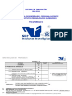 Sistema de Evaluación SDE-2013