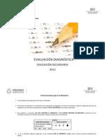 EVALUACIÓN DIAGNOSTICA 2013 (1ero. Sec)