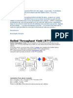 Roled Throughput Yield (RTY)